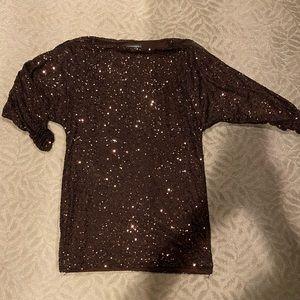 Lauren Ralph Lauren sequin cold shoulder dress